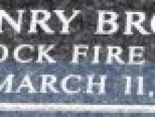Henry Brookin Name Plate